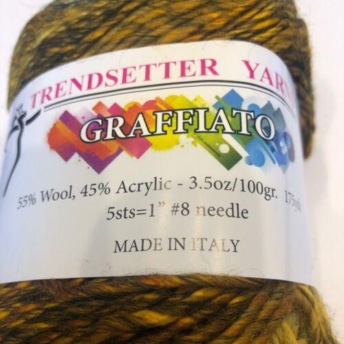 Trendsetter Yarn Graffiato Knitting Sweater Scarf Crochet  Wool
