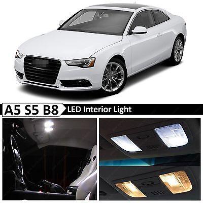 17x White Interior LED Lights Package Kit for 2008-2015 Audi A5 S5 B8 Error Free