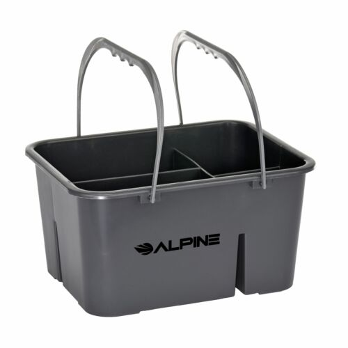 Alpine Industries Gray 4 Compartment Carry Tote Cleaning Supply Storage Caddy