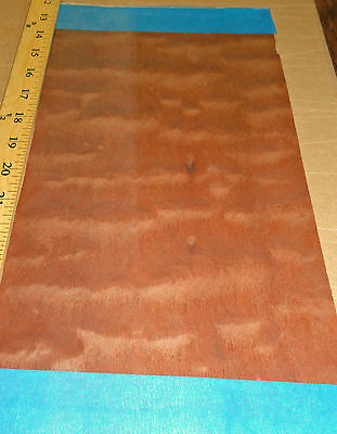 """Sapele Pommele Figured Quilted wood veneer 41/"""" x 69/"""" with paper backer 1//40/"""""""