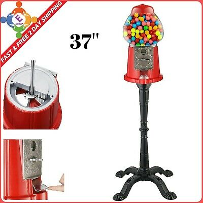 eal Glass Vintage Candy Gumball Machine Globe Bank Storage Dispenser With Stand