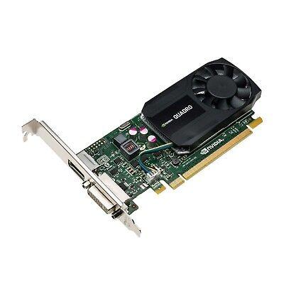 4K NVIDIA Quadro K600 Grafikkarte 1GB GPU PCIe x16 HDCP DP1.2 CUDA OpenGL OpenCL