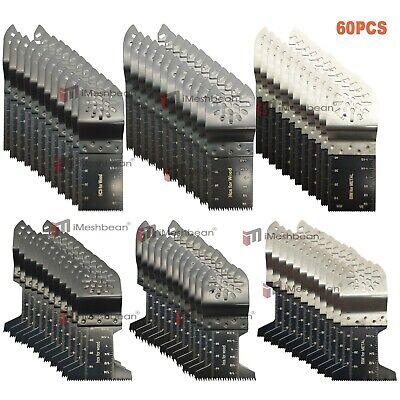 60pk Oscillating Saw Blades For Fein Bosch Ridgid Dewalt Makita Ryobi Multi Tool