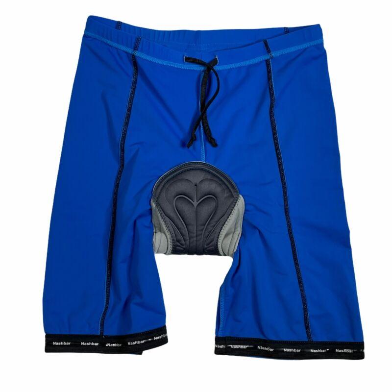 Nashbar Men's Padded Cycling Shorts Blue Size  L Made In USA Bike