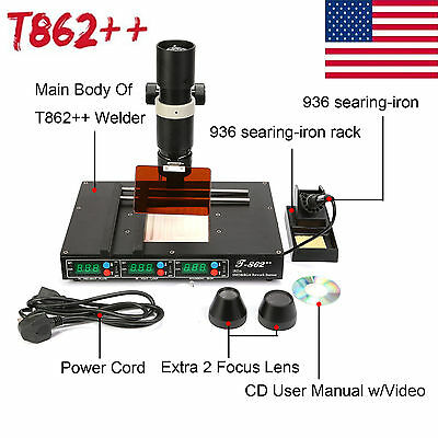 T862 Infrared Heating Bga Irda Rework Station Smd Welder Weldering Machine Us