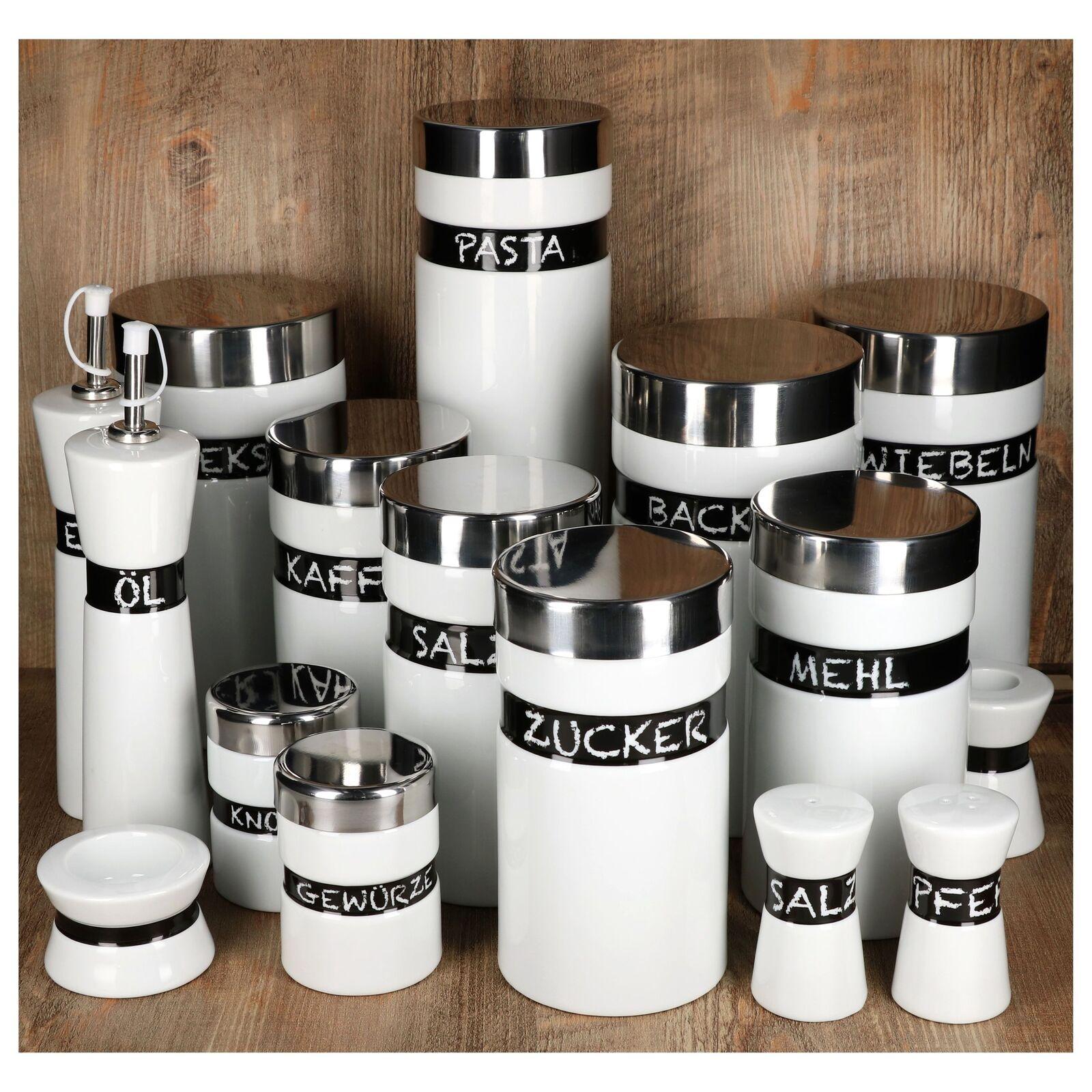 Van Well Porzellan Loft Vorratsdosen Aufbewahrungsdose Gewürzbehälter Öl Streuer