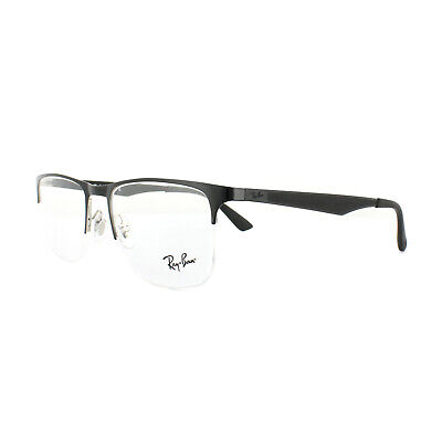 Ray-Ban Glasses Frames RX 6362 2861 Silver Top Shiny Black Mens 53mm