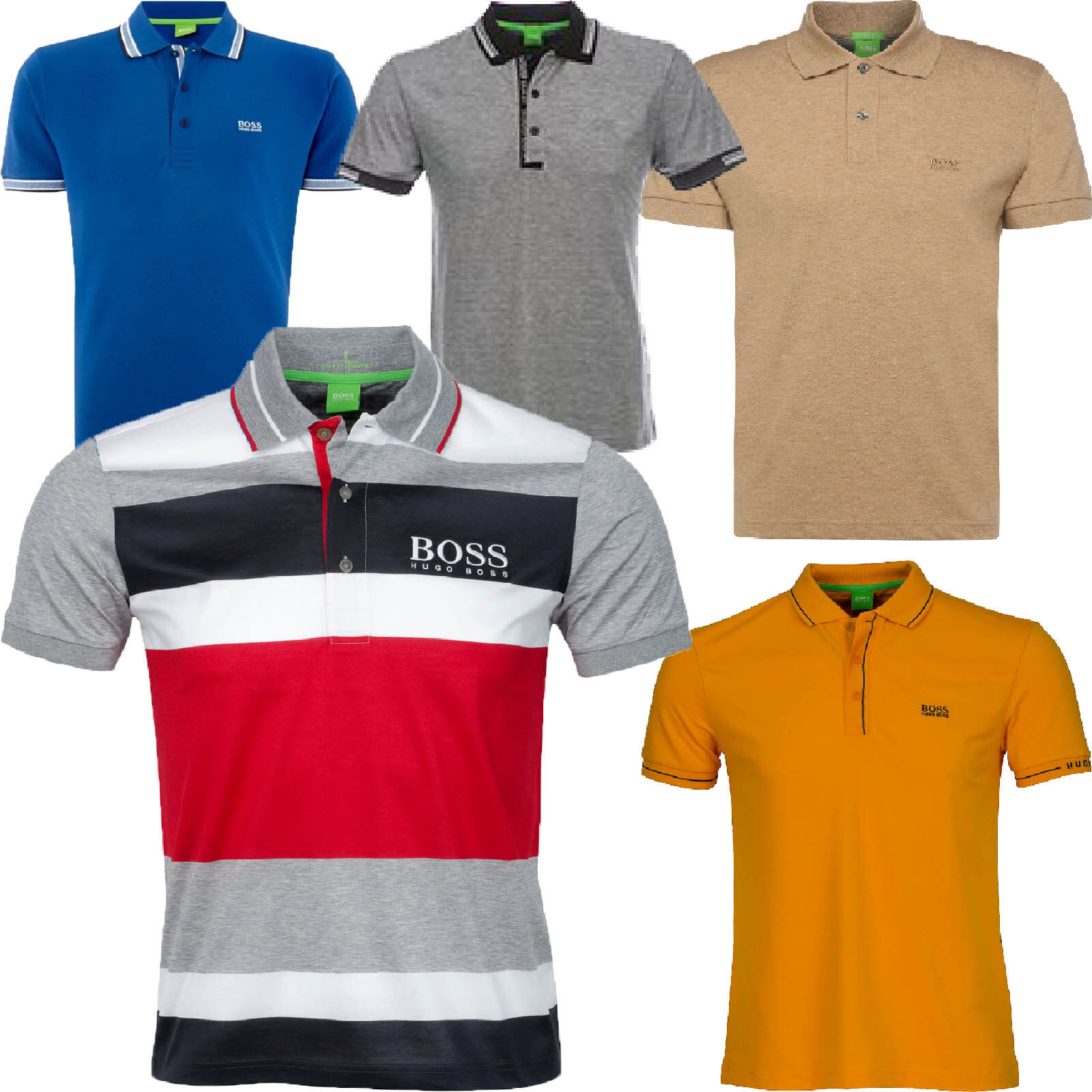 Hugo Boss Polo Mens Short Sleeve Classic Green Label Paddy Pro Polo's T Shirt