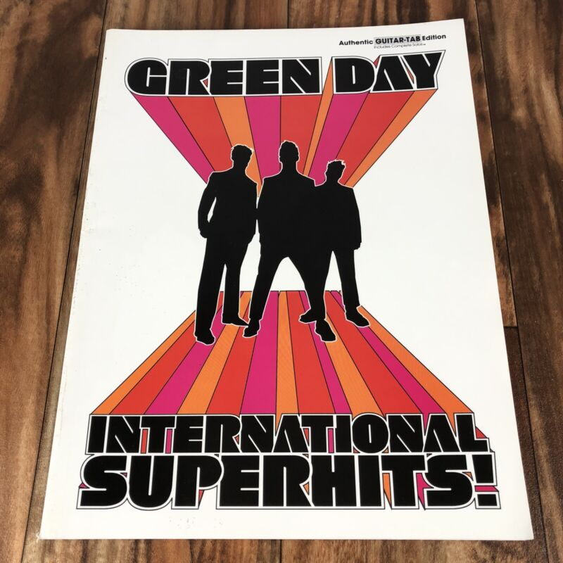 GREEN DAY International Superhits Sheet Music Book, Guitar Tabs, Tablature