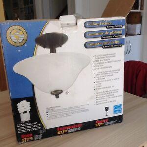 Semi flush mount ceiling lamp
