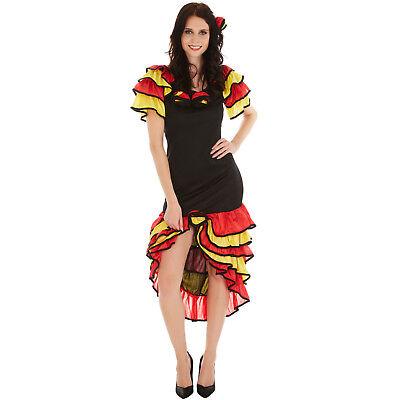 Flamenco Kleid Kostüme (Frauenkostüm Flamenco Tänzerin Spanierin Kleid Señorita Fasching Karneval Salsa)