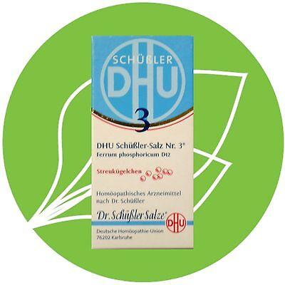 Schüßler Salz Nr.3 Ferrum phosphoricum D12 DHU Globuli PZN 10545887