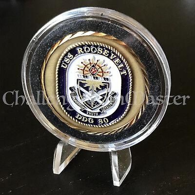 C19 Older USS Roosevelt DDG 80 CPO Chief Petty Officer Challenge Coin