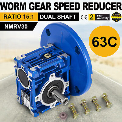 Worm Gear 151 63c Speed Reducer Gearbox Dual Output Shaft Unique Active Local