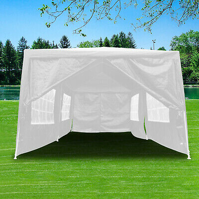 3x6m Heavy Duty Gazebo Waterproof Marquee Canopy Garden Party Wedding Tent White