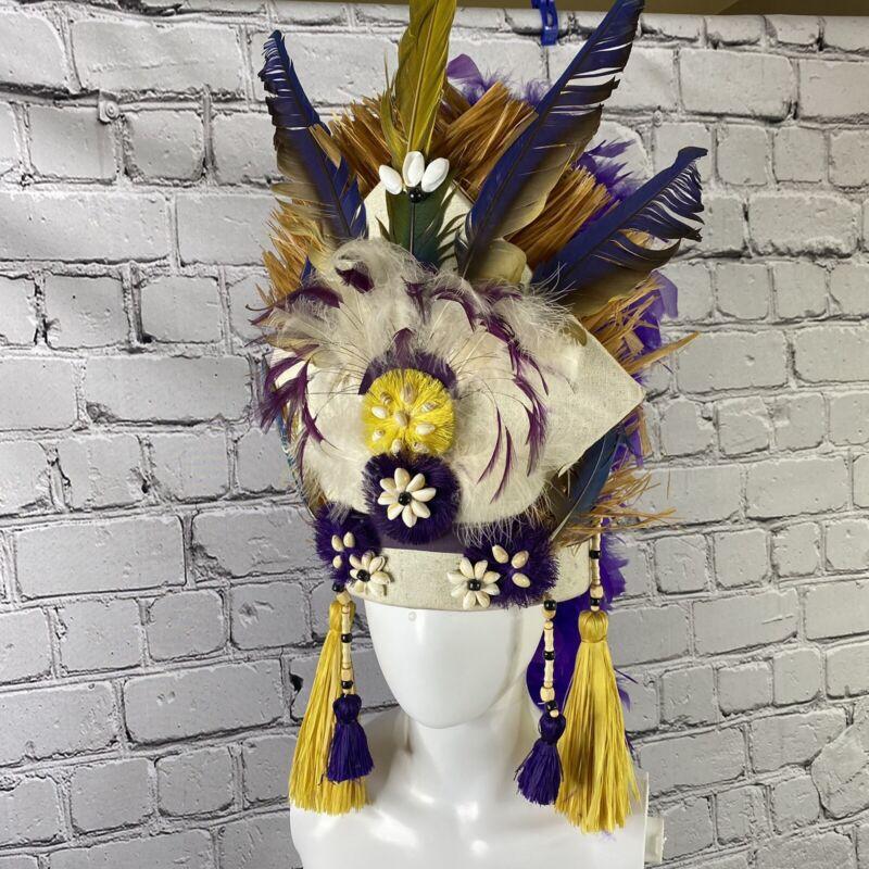 Tahitian costume head piece head dress dance headhei