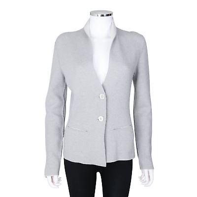 Iris Von Arnim Light Grey Cashmere Knit Cardigan - Size Small