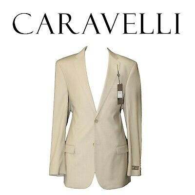 - NEW Caravelli Beige Color Men's Classic Fit Suit Extra Long Length Jacket Pants