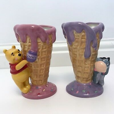 Disney 3D Ice Cream Cornet Cone Holder Sundae Winnie the Pooh & Eeyore ()