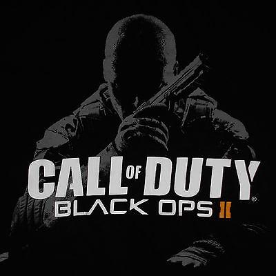 Call of Duty Black Ops 2 T-Shirt Medium Video Game Cover Art Shooter (Call Of Duty Black Ops 2 Cover)