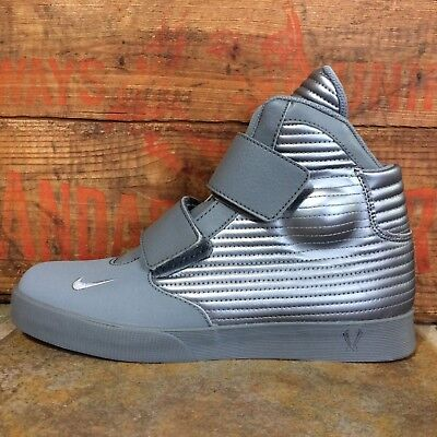 Mens Nike Size 12 Flystepper 2K3 Sneakers Metallic Grey High Top Tops