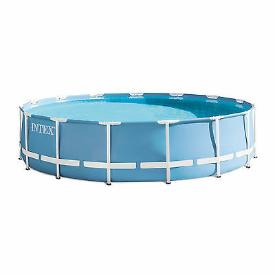 """Intex 15' x 33"""" Prism Frame Above Ground Swimming Pool Set with Pump 