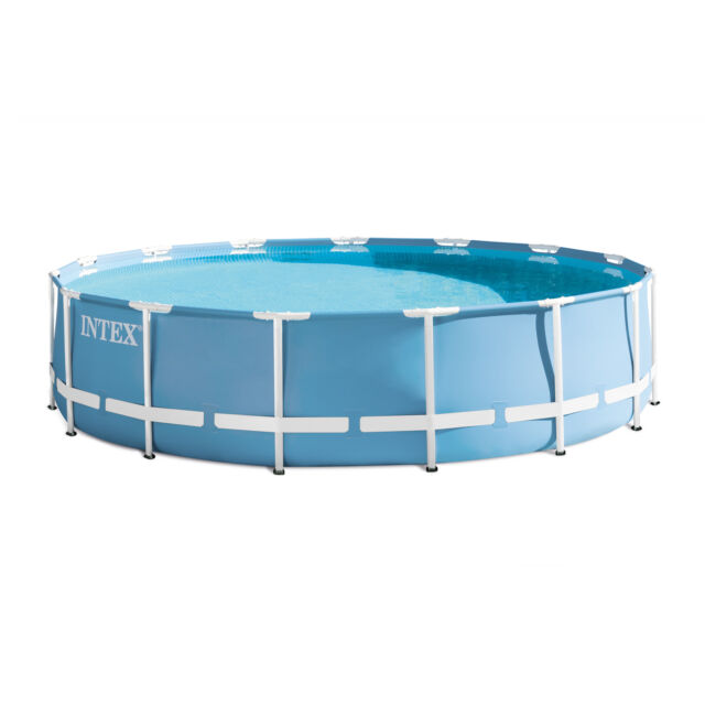 intex 15 x 33 prism frame above ground swimming pool set with pump