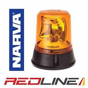NARVA OPTIMAX HALOGEN ROTATING FLASHING BEACON 85650A FIXED BOLT 12V 24V AMBER