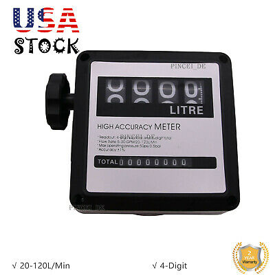 Fm-120 Gasoline Fuel Petrol Oil Flow Meter 20-120lmin For Diesel Counter Us