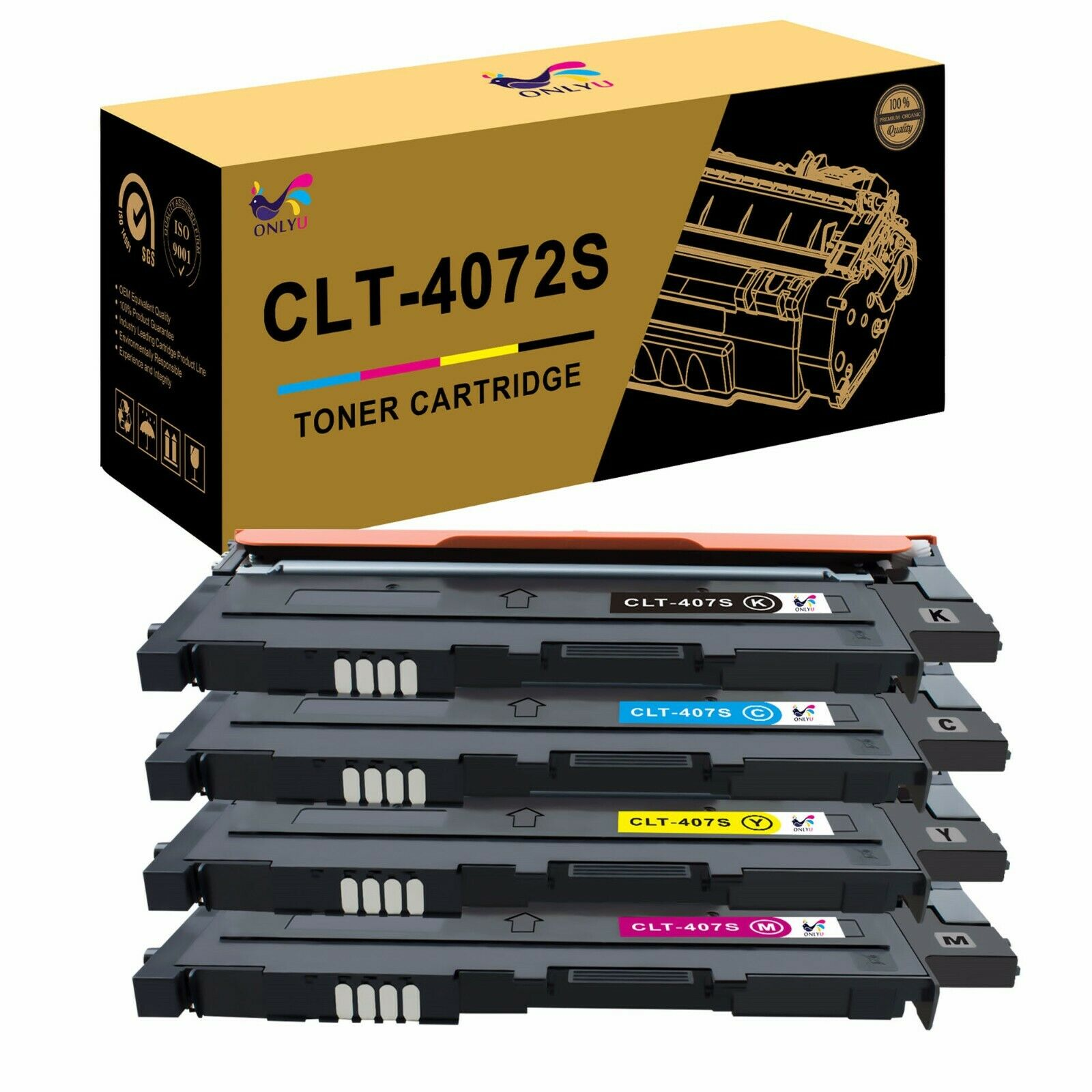 Set 4 Toner XXL für Samsung CLP-325 CLX-3185 FN CLX-3185 FW CLP-320 CLT4072 KCMY