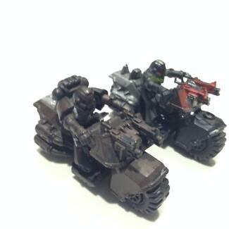 Warhammer 40K - 2x Space Marine Bikes + 1 Attack bike upgrade (me Success Cockburn Area Preview