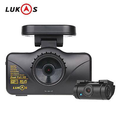 Lukas LK-7950 WD GPS 8GB+8GB Dual Full HD 1920x1080 LED Car Dash Camera Blackbox
