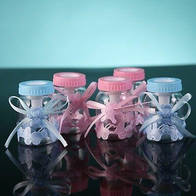 12 Fillable Bottles for Girl Boy Baby Shower Favors Blue Pink Party - Party Favors For Girl Baby Shower