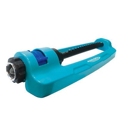 Aqua Joe Indestructible Oscillating Sprinkler   Adjustable Spray   Metal Base