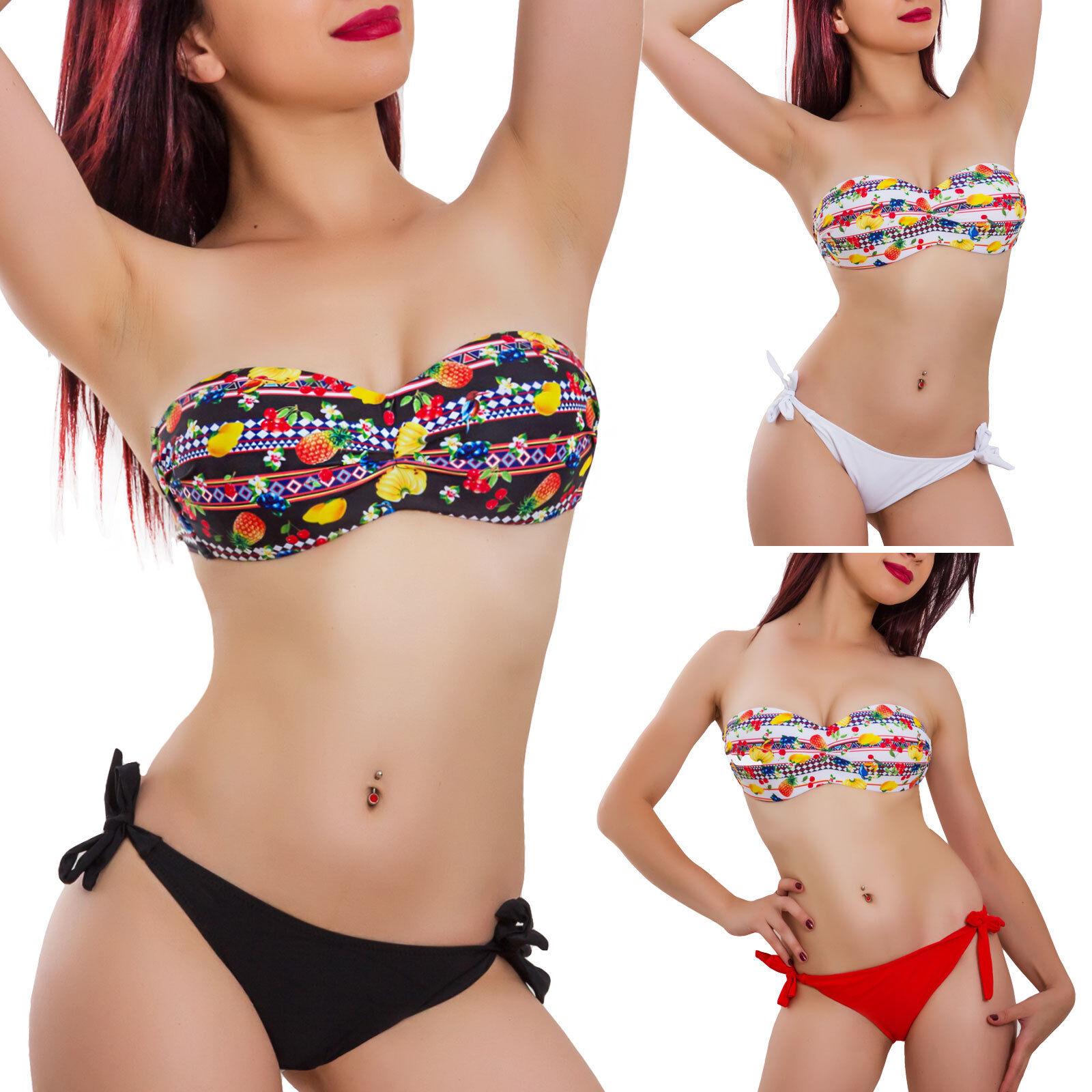 Bikini donna costume da bagno mare fascia frutta due pezzi swimwear sexy YLM1303
