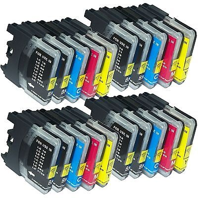 20 Ink Cartridge For Brother LC61 LC-61  MFC-J265w MFC-J270w MFC-J410w MFC-J415w Brother Lc61 Compatible Inkjet