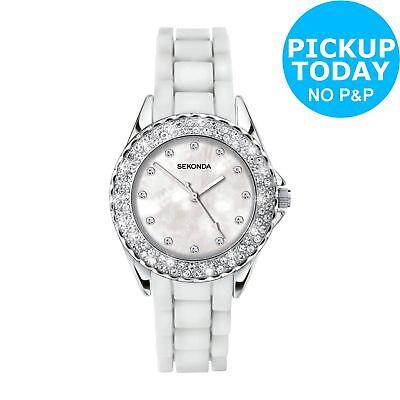 Sekonda Ladies' White Stone Set Watch