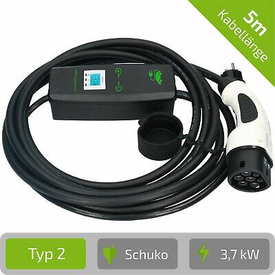 Mode 2 Ladegerät Wallbox Typ 2 tragbar 1 Phasig Schuko 230V 3,6 kW