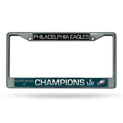 Philadelphia Eagles Super Bowl LII 52 Champions METAL License Plate Frame NWT