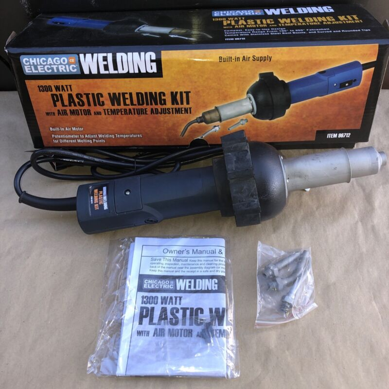 1300 Watt Plastic Welding Kit with Air Motor and Temperature Adjustment Compact