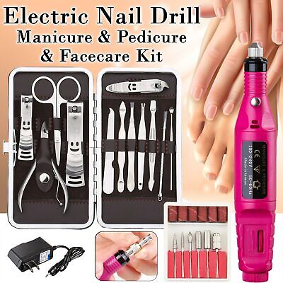 New Professional Electric Nail File Drill Manicure Pedicure Tool Machine Set Kit](Manicure Sets)