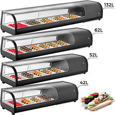 Commercial Sushi Showcase Sushi Cooler Display Case Sushi Bar Showcase Black