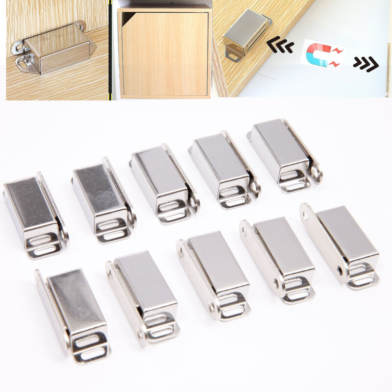 30pcs Stainless Steel Magnetic Door Cupboard Catch Latch Kitchen Furniture 8KG