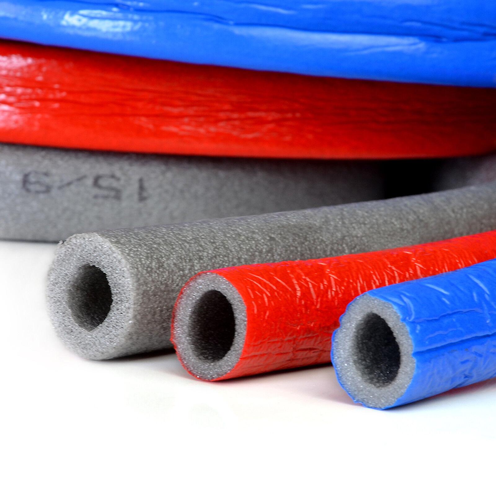 10m PE Rohrisolierung Isolierschlauch Rohr Isolierung Heizungsrohre Rot Blau