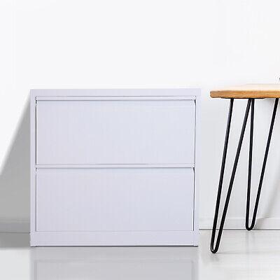 30 2 Drawer Modern Document Storage Filing Cabinet Furniture Grey Steel Metal