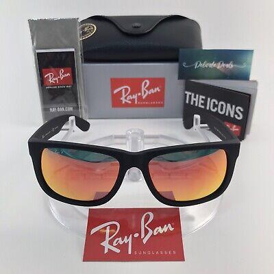 Ray-Ban Justin Classic RB4165 622/6Q 54mmMatte Black Red Mirror Polarized