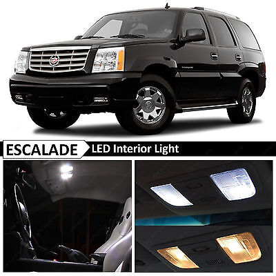 16x Bulbs White Interior LED Lights Package for 2002-2006 Cadillac Escalade SUV