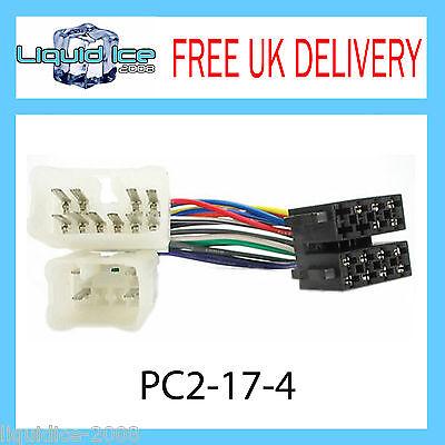 PC2-17-4 Toyota Yaris ISO Stereo Head Unit Harness Adaptor Wiring Loom Lead