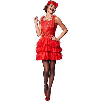 Frauenkostüm 20er Jahre Kostüm Kleid Charleston Karneval Fasching Halloween  (20 Frauen Kostüme)