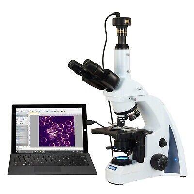 Omax 40x-2500x 10mp Infinity Darkfield Trinocular Compound Led Microscope